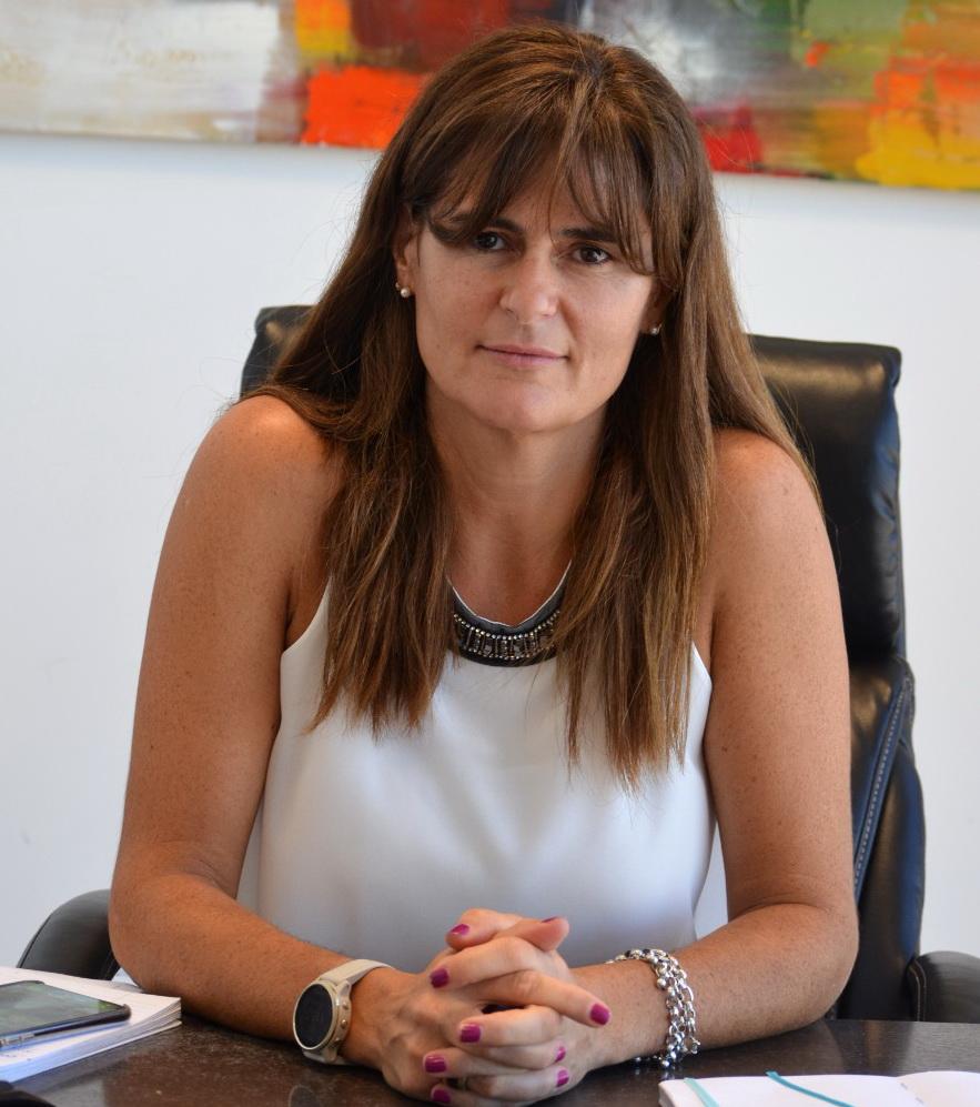 Natalia Muguerza, socia fundadora del Depósito Fiscal y Aduanero del Neuquén S.A.